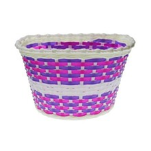 Children's Bicycle Front Basket Nexelo White-Purple