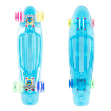 "Penny Board WORKER Transpy 500 22"" with Light-Up Wheels - 2016"
