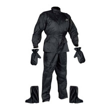 Set Rainpack jacket/pants/gloves/boots Nox - Black