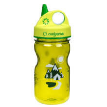Children's Water Bottle NALGENE Grip 'n Gulp 350ml - Green Trail