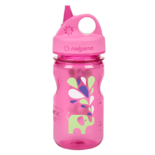 Children's Water Bottle NALGENE Grip 'n Gulp 350ml - Pink Elephant