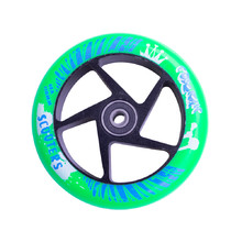 Spare Wheel for Scooter FOX PRO Raw 110 mm - Green-Black