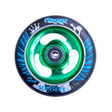 Spare Wheel for Scooter FOX PRO Raw 110 mm - Black-Green