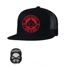 Snapback Hat BLACK HEART Ace Of Spades Trucker - Black