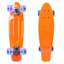 "Penny Board WORKER Sturgy 22"" with Light Up Wheels - Orange"