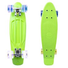 "Penny Board WORKER Sturgy 22"" with Light Up Wheels - Green"