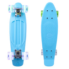 "Penny Board WORKER Sturgy 22"" with Light Up Wheels - Blue"