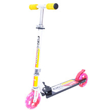 Scooter WORKER Cirky with Light-Up Wheels - Yellow