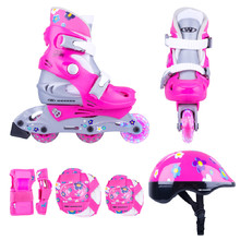 Children's Rollerblading Set WORKER Polly LED – with Light-Up Wheels