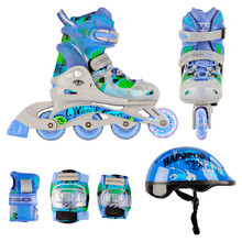 Children's 3in1 Rollerblading Set WORKER Torny LED – with Light-Up Wheels