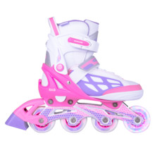 Adjustable Rollerblades WORKER Nubila with Light-Up Wheels - Pink-Purple-White