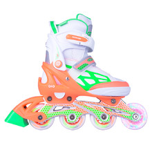 Adjustable Rollerblades WORKER Nubila with Light-Up Wheels - Orange-Green-White