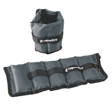 Adjustable Wrist / Ankle Weights inSPORTline GrayWeight 2x1 kg