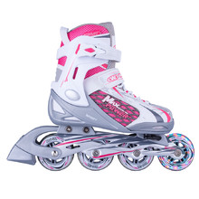 Adjustable Rollerblades WORKER Haasiko LED with Light-Up Wheels - Red