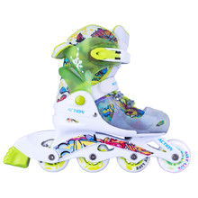Adjustable Children's Rollerblades with Light-Up Wheels Action Doly - Green