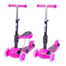 3-in-1 Scooter WORKER Nimbo - Pink