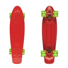 "Penny Board Fish Classic 22"" - Red-Red-Transparent Green"