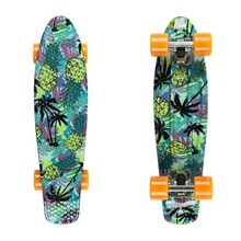 "Penny Board Fish Print 22"" - Pineapple-Silver-Orange"