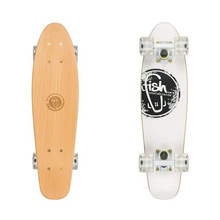 Penny Board Fish Classic Wood - Logo White