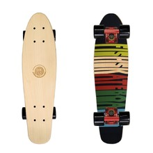 Penny Board Fish Classic Wood - 70s-Red-Black