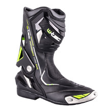 Leather Motorcycle Boots W-TEC Hernot W-3015 - Black-Fluorescent Yellow
