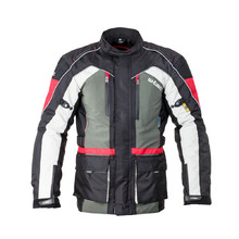 Men's Moto Jacket W-TEC Wigstein NF-2209 - Black-Khaki-Red