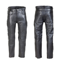 Men's Leather Moto Pants W-TEC Roster NF-1250 - Black