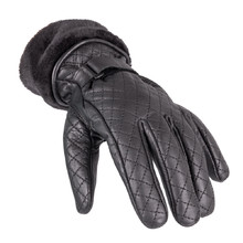 Women's Leather Gloves W-TEC Stolfa NF-4205 - Black