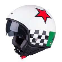 Scooter Helmet W-TEC FS-710G Sixty White - White with Graphics