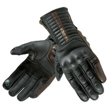 Leather Motorcycle Gloves Rebelhorn Opium II Retro CE