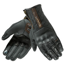 Leather Motorcycle Gloves Rebelhorn Opium II Retro Lady CE