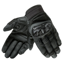 Leather Motorcycle Gloves Rebelhorn Gap II CE