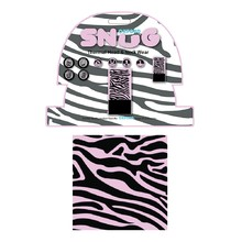 Universal Multi-Functional Neck Warmer Oxford Snug - Pink Zebra