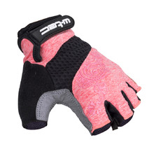 Women's Cycling Gloves W-TEC Atamac AMC-1038-17 - Grey-Pink