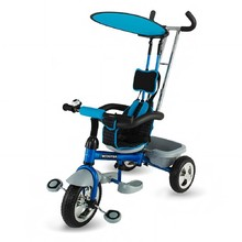 Three-Wheel Stroller/Tricycle with Tow Bar DHS Scooter Plus - Blue