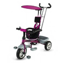 Three-Wheel Stroller/Tricycle with Tow Bar DHS Scooter Plus - Purple
