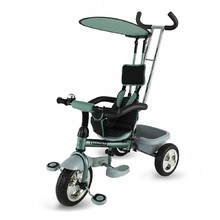 Three-Wheel Stroller/Tricycle with Tow Bar DHS Scooter Plus - Green