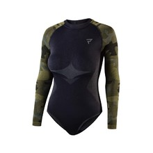 Thermal Motorcycle T-Shirt/Bodysuit Rebelhorn Freeze Lady BD - Black-Camo