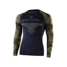 Thermal Motorcycle Long Sleeve T-Shirt Rebelhorn Freeze Jersey - Black-Camo
