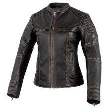 Women's Leather Motorcycle Jacket Rebelhorn Hunter Pro Lady CE