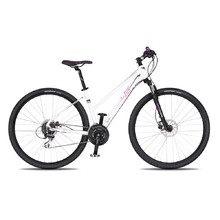 "Women's Cross Bike 4EVER Jasmine Disc 28"" – 2019 - White-Pink"
