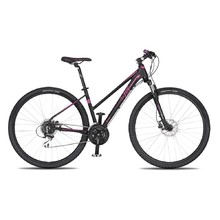 "Women's Cross Bike 4EVER Jasmine Disc 28"" – 2019 - Black-Pink"