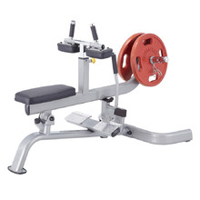 Seated Calf Raise Machine Steelflex PlateLoad Line PLSC - Grey