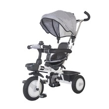 Three-Wheel Stroller/Tricycle with Tow Bar MamaLove Rider - Grey