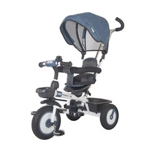 Three-Wheel Stroller/Tricycle with Tow Bar MamaLove Rider - Blue