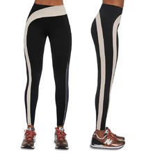 Women's Sports Leggings BAS BLACK Flow - Black/Cream