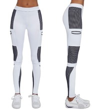 Women's Sports Leggings BAS BLACK Passion - White-Blue