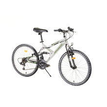 "Full-Suspension Junior Bike Reactor Fox 24"" – 2020 - White"