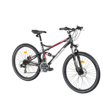 "Full Suspension Bike DHS Terrana 2645 26"" – 2016 - Black-White-Red"