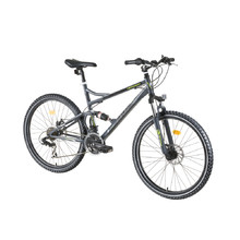 "Full Suspension Bike DHS Terrana 2645 26"" – 2016 - Gray-Black-Green"